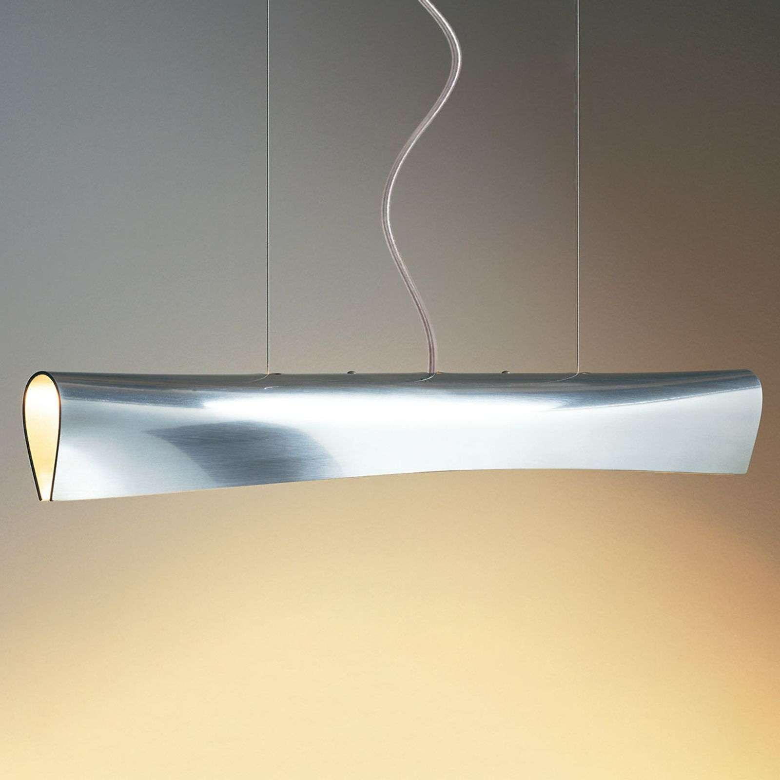 Suspension LED de designer Nil, câble transparent