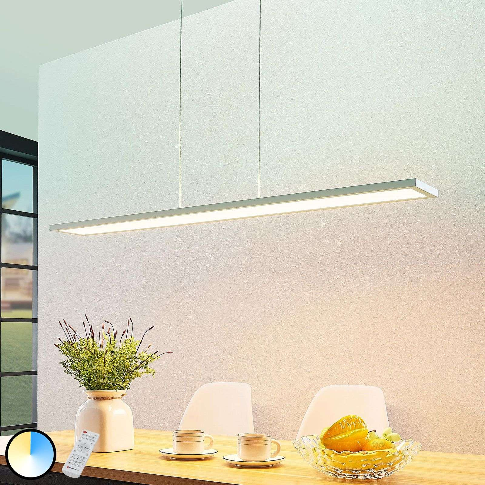 Suspension LED Yara, 2 700-6 200 K, blanc