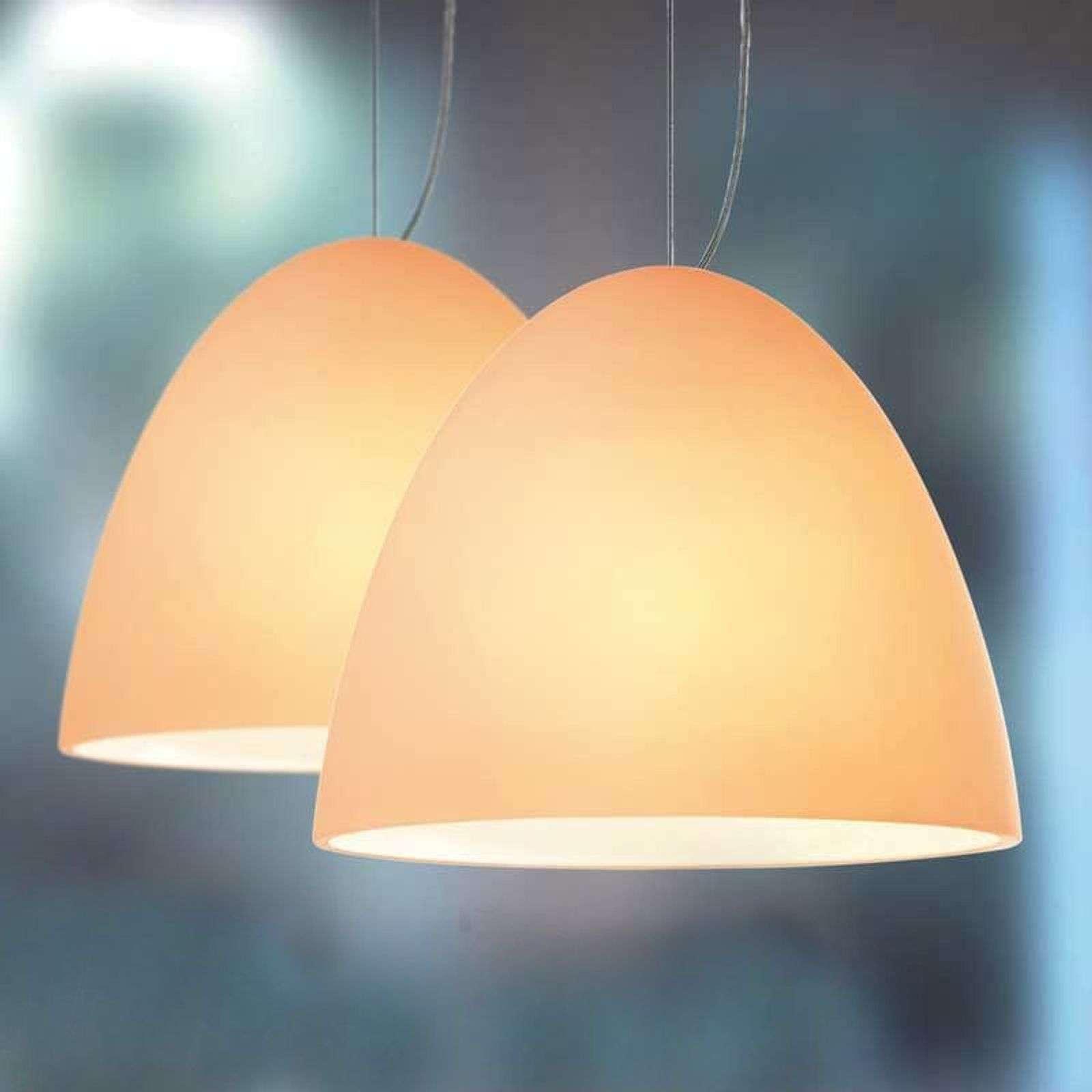 Suspension Bell couleur sable 21 cm 2 lampes