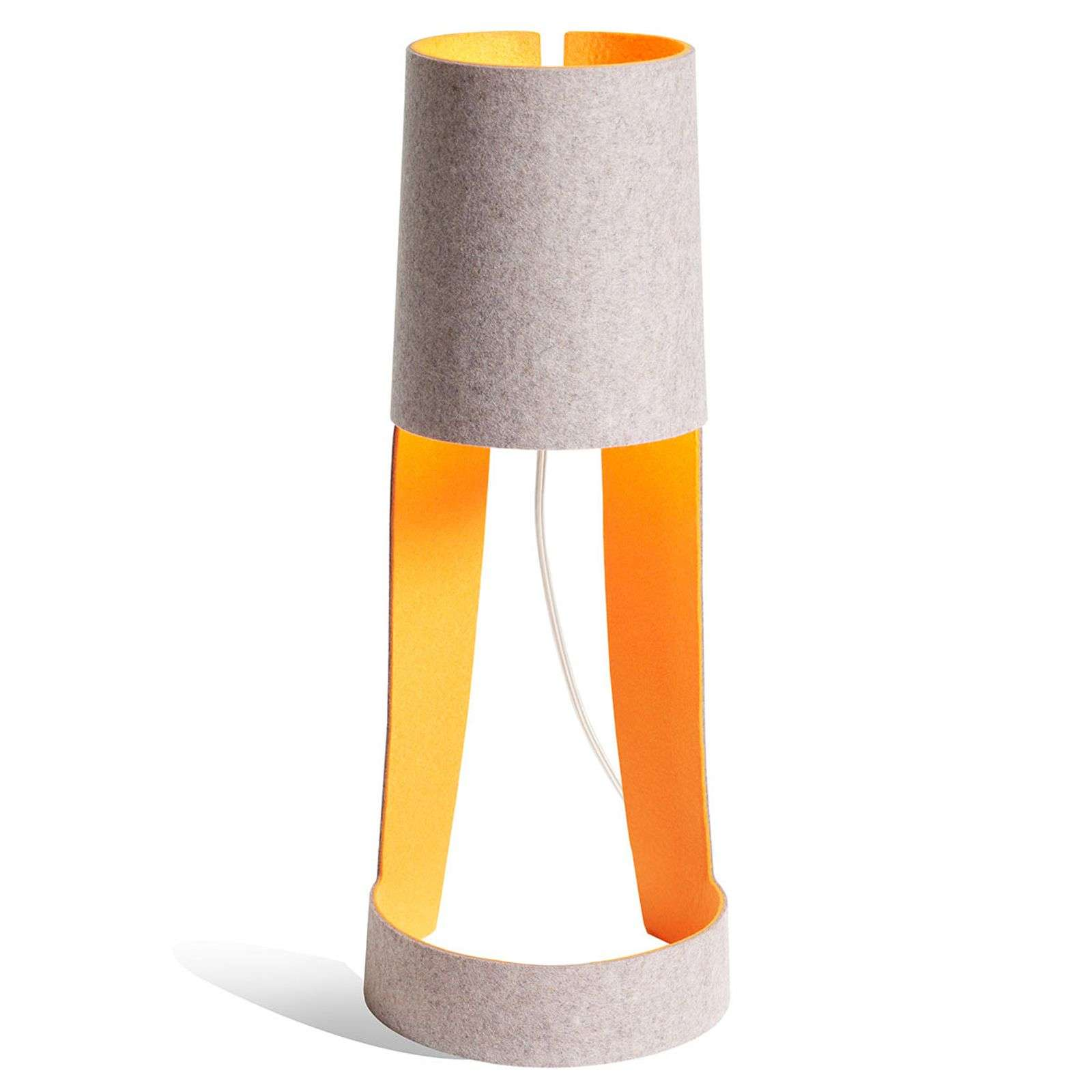 Lampe à poser Mia gris et orange
