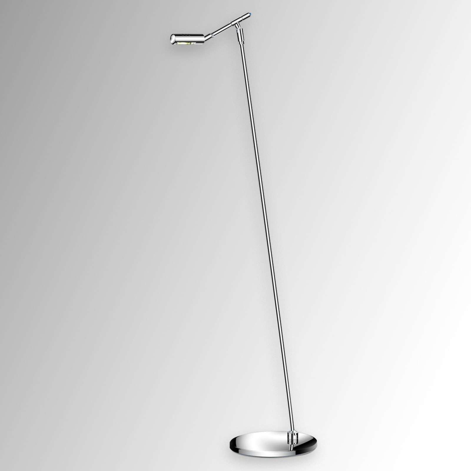 Lampadaire LED SENO chromé