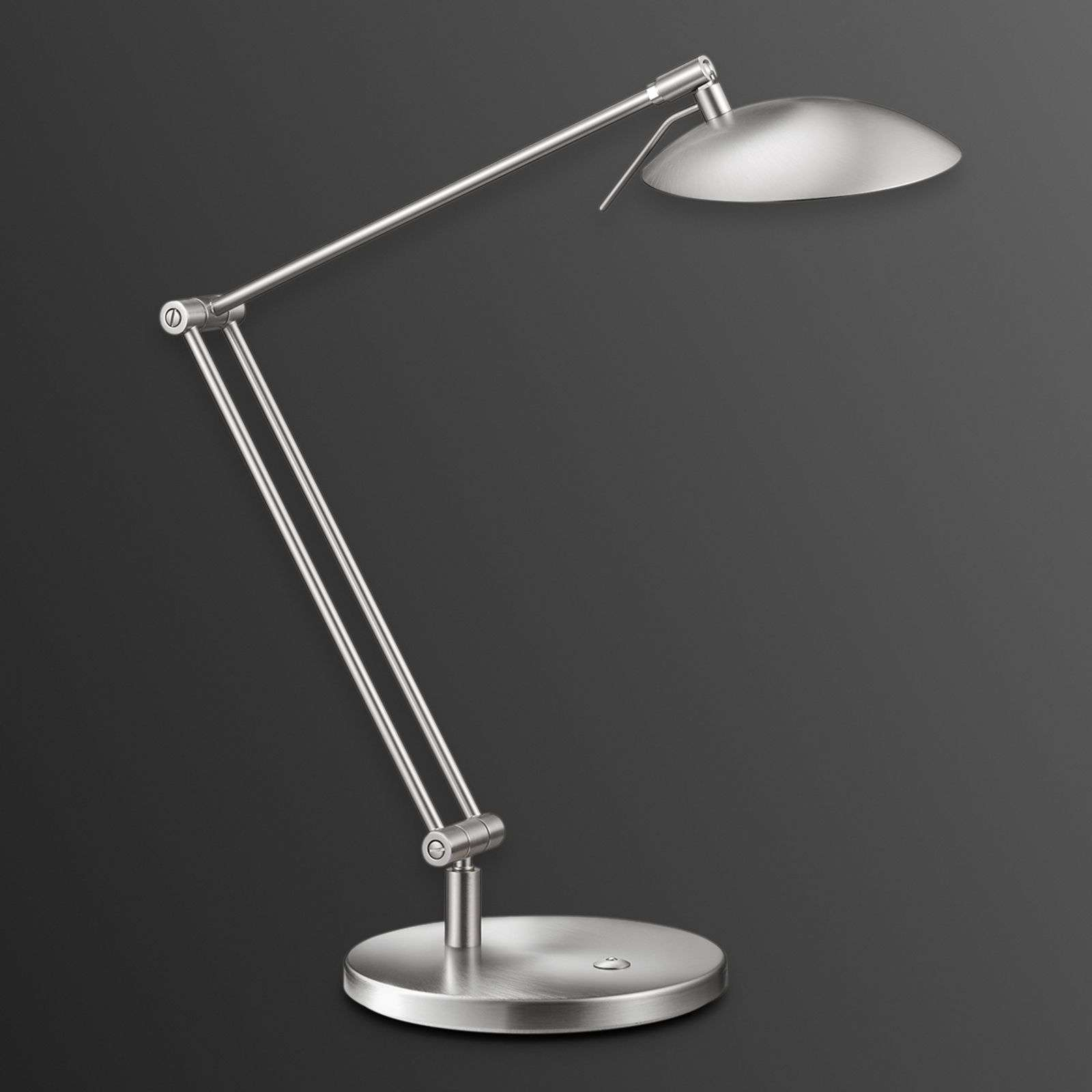 Fantastique lampe de bureau LED COIRA nickel mat