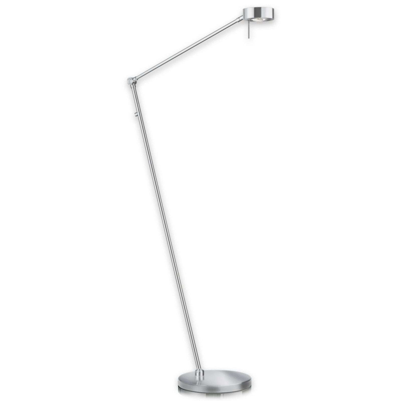 Lampadaire LED Elegance à 3 articulations nickel