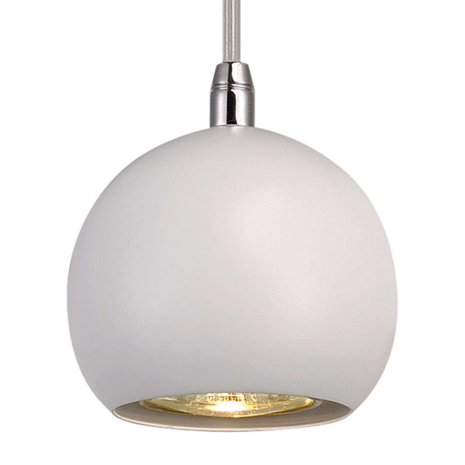 Suspension Light Eye pour rail monophasé blanc