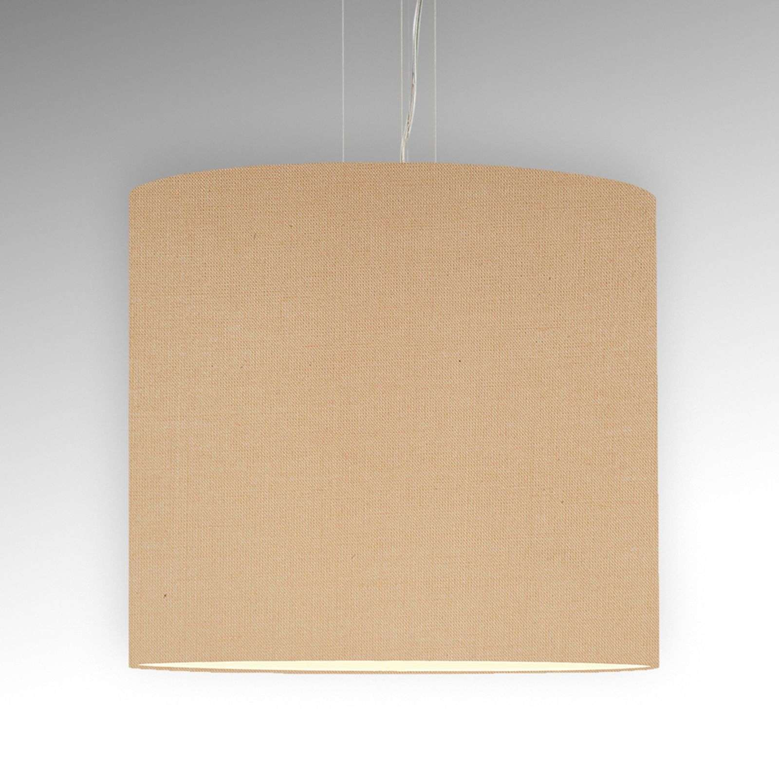 Suspension Tono profil fin beige diamètre 60 cm