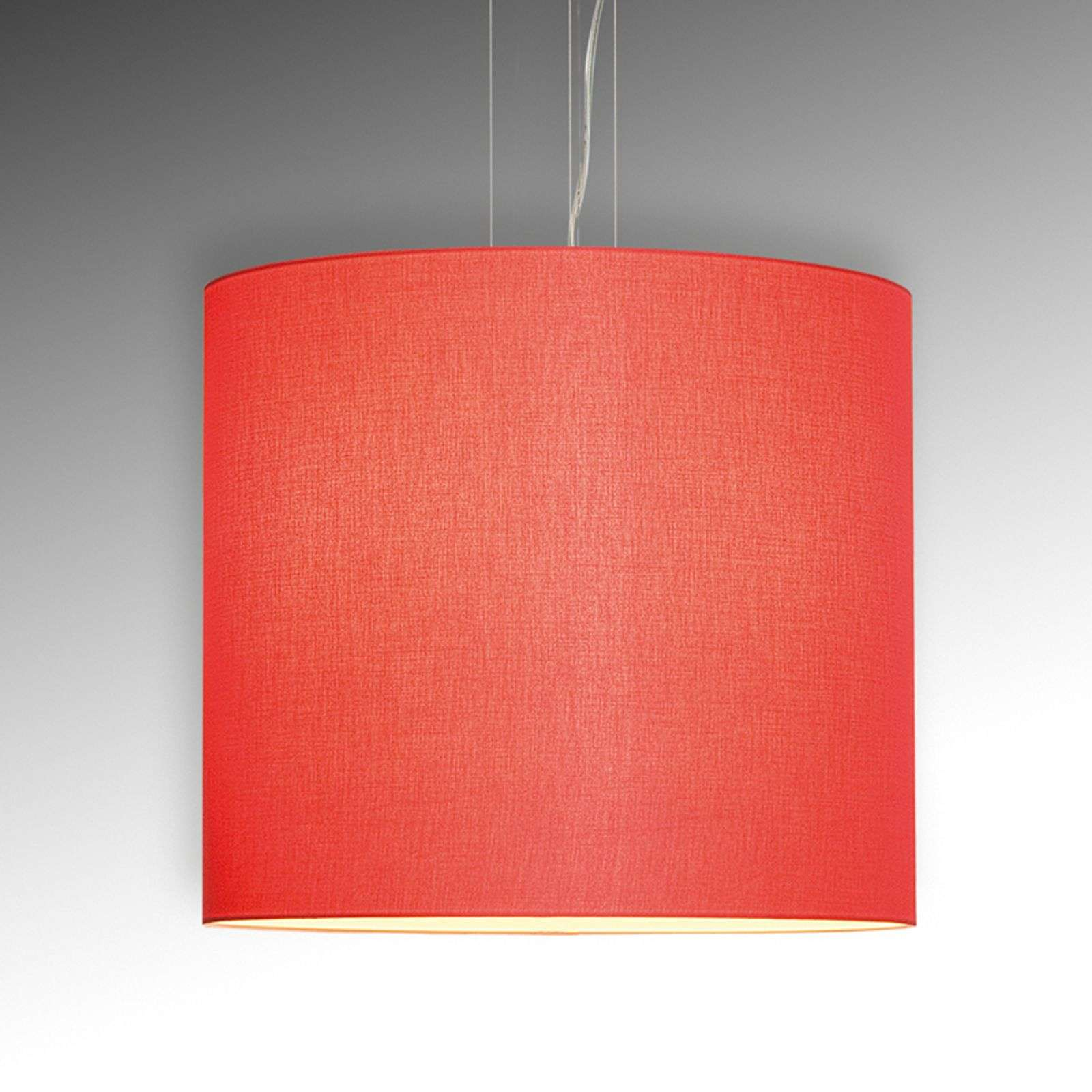 Suspension Tono profil fin rouge diamètre 60 cm