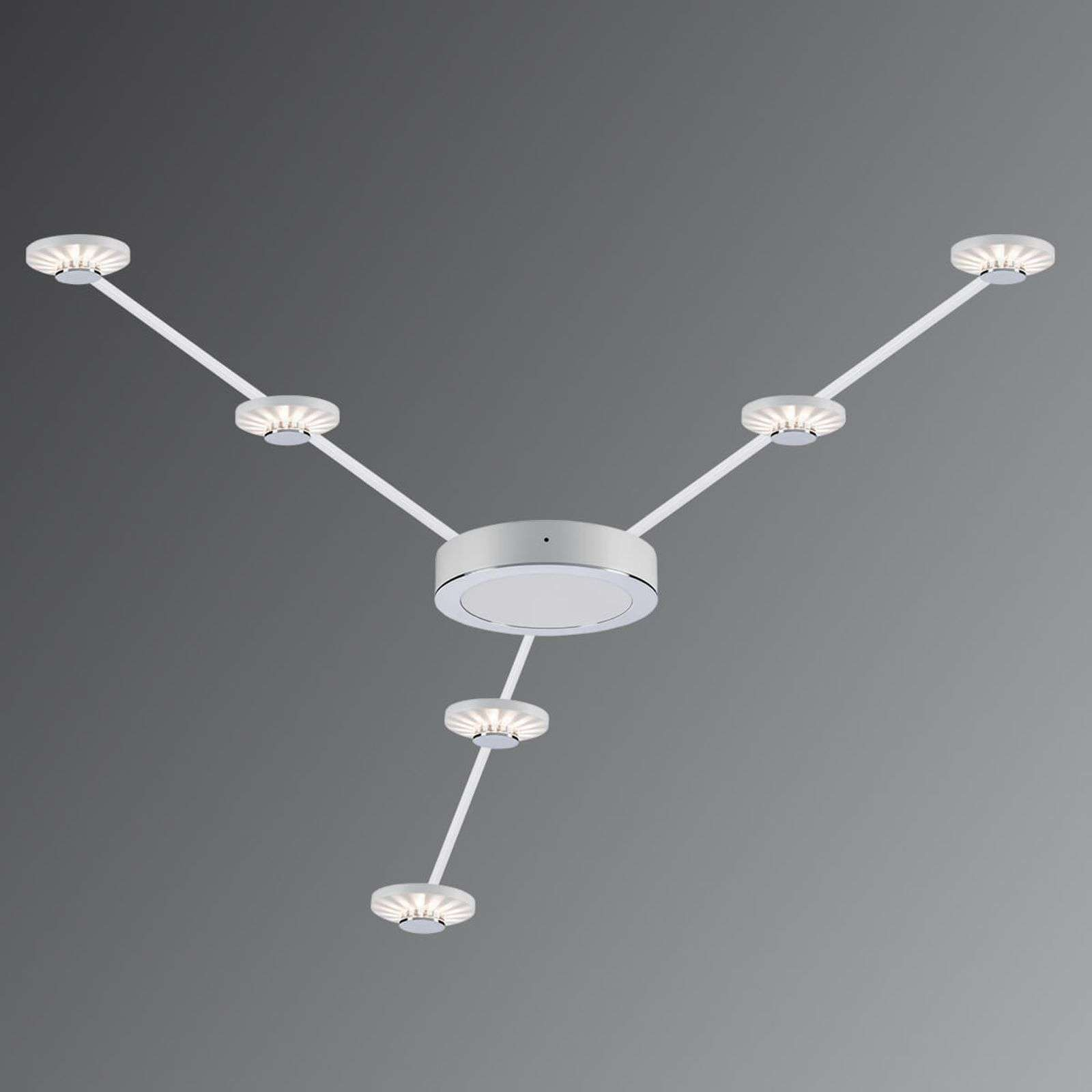Set de 6 plafonniers LED Frill