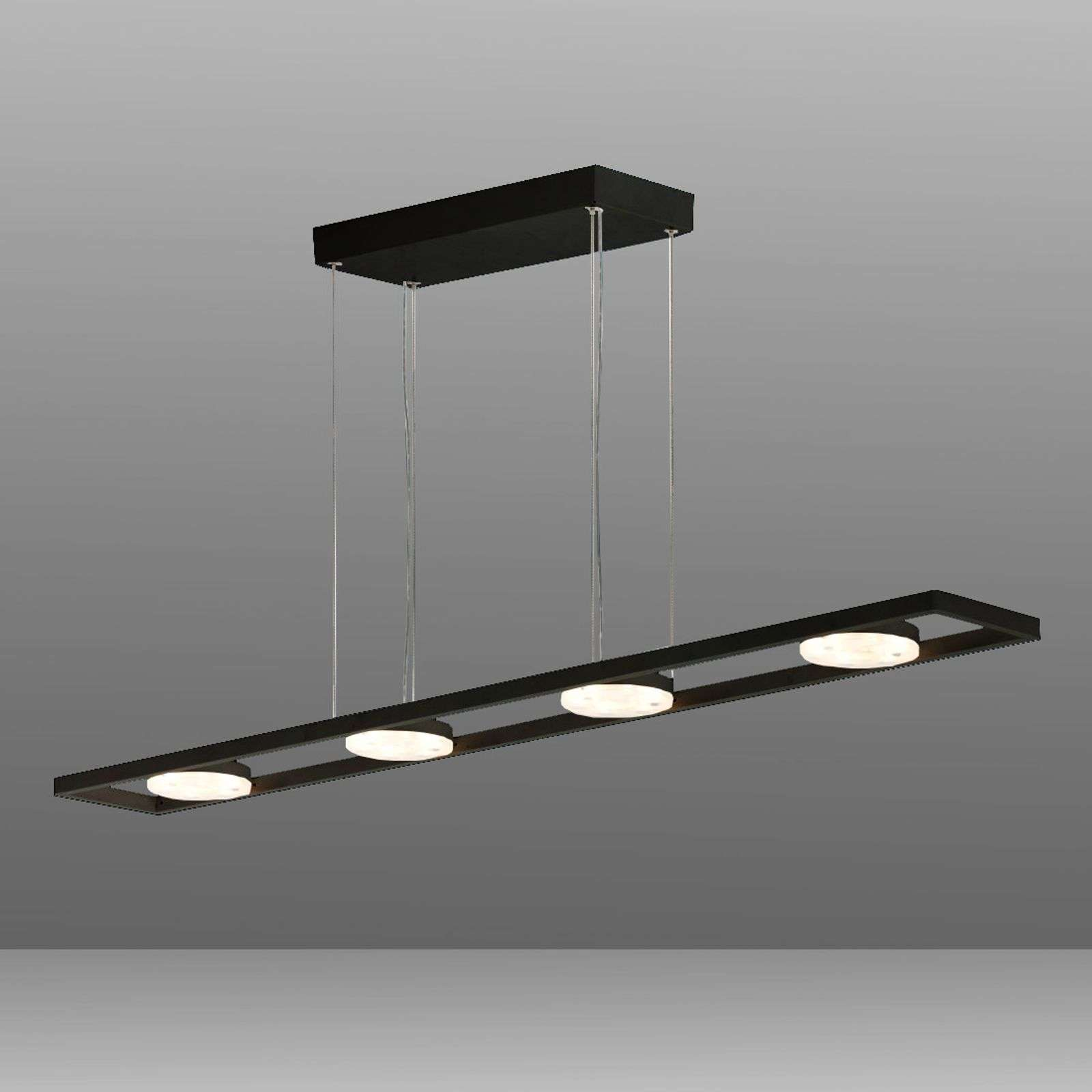 Suspension LED à 4 lampes TUNE-PL noire