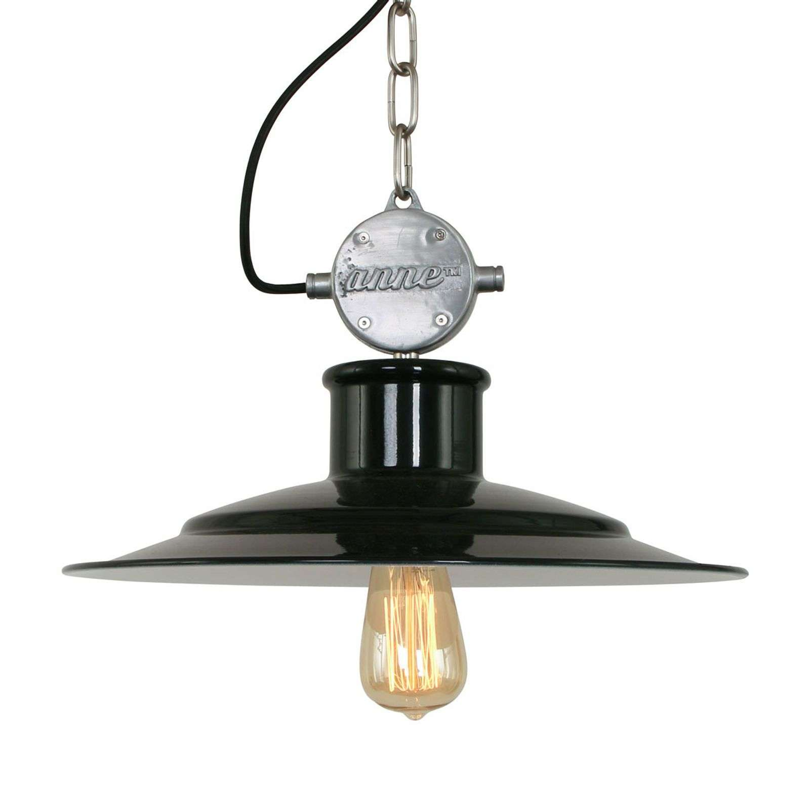 Milstone - suspension industriel en noir L07
