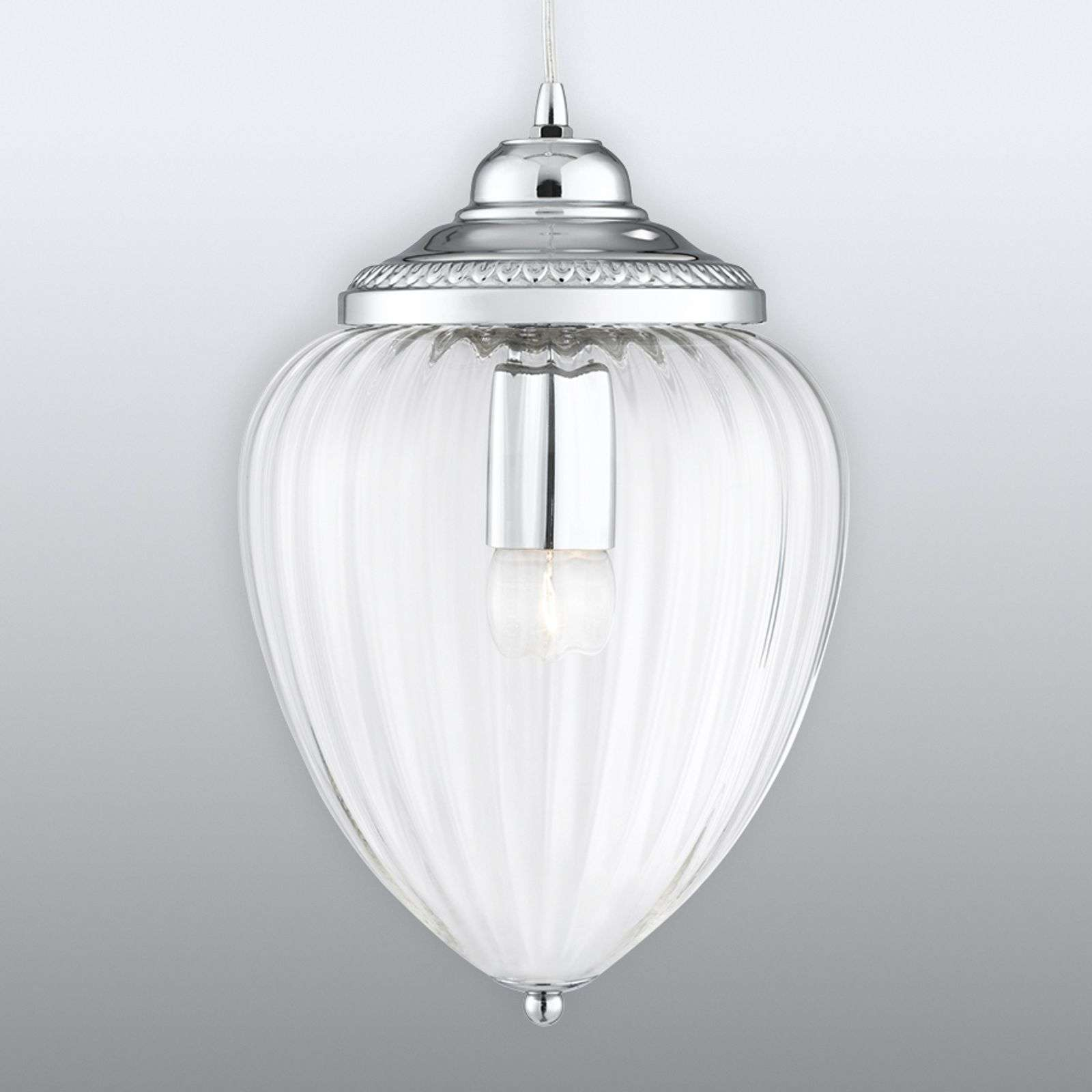 Suspension Pendants en verre avec des rainures