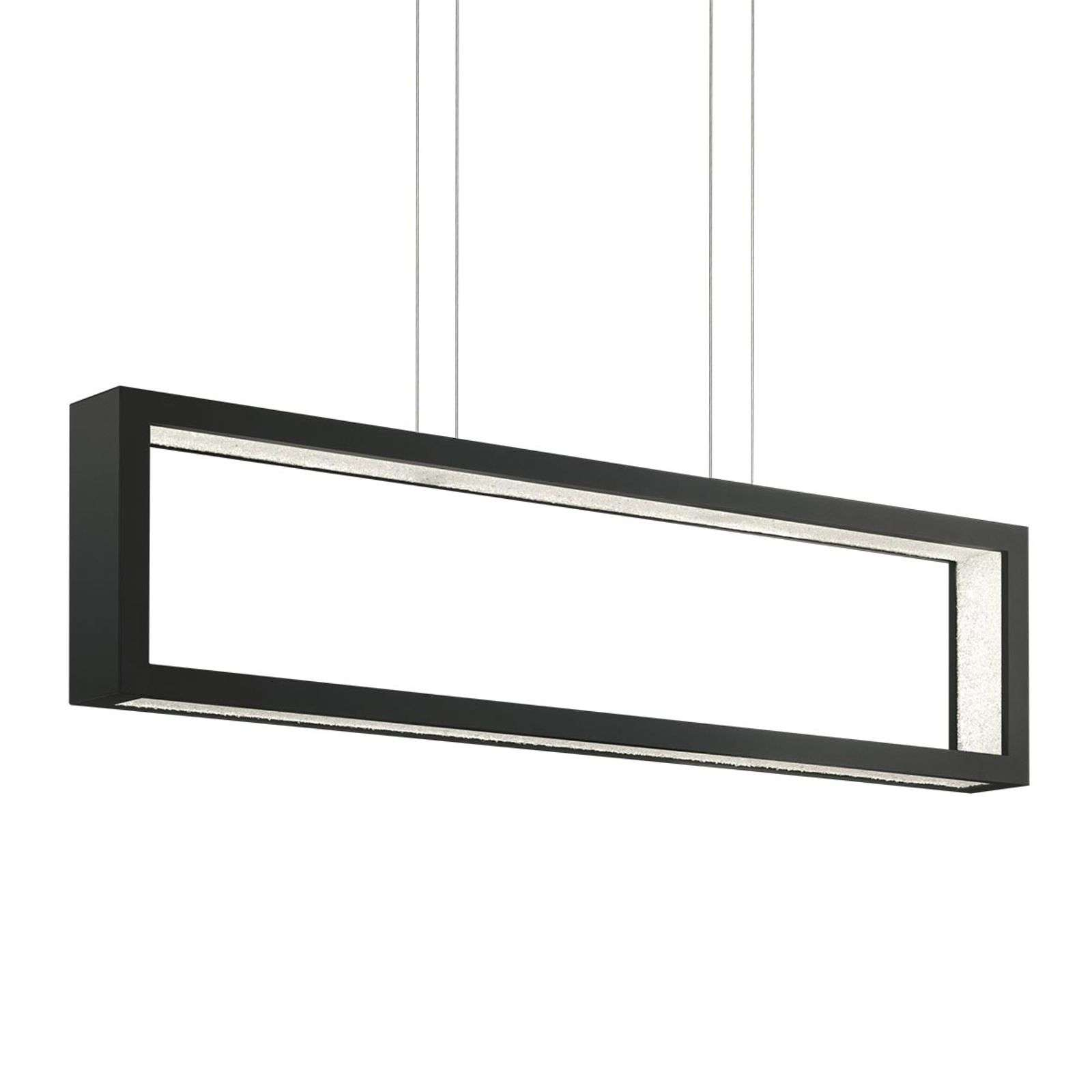 Suspension cristal LED Revealed Open, noir