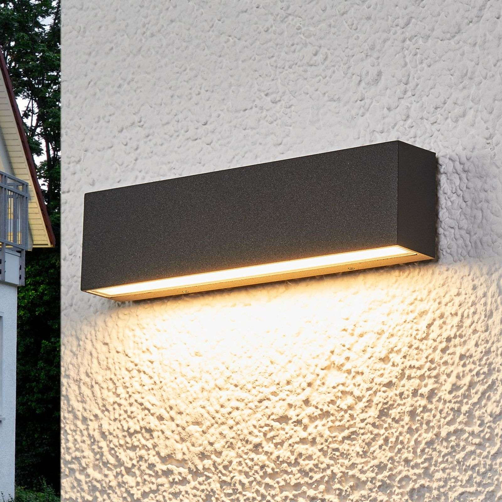 Elvira - applique ext. LED gris graphite IP65