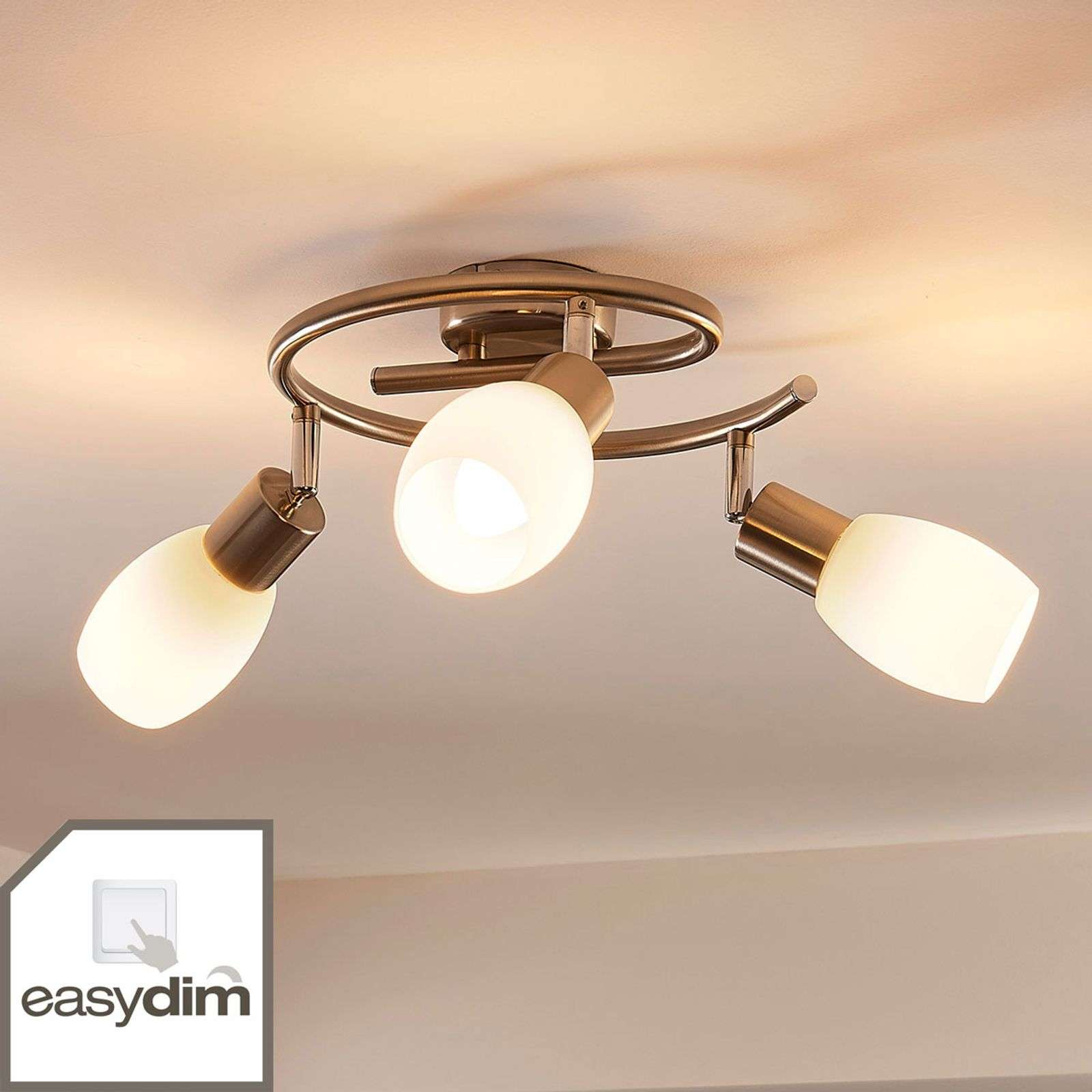 Plafonnier rond LED Easydim Arda à 3 lampes