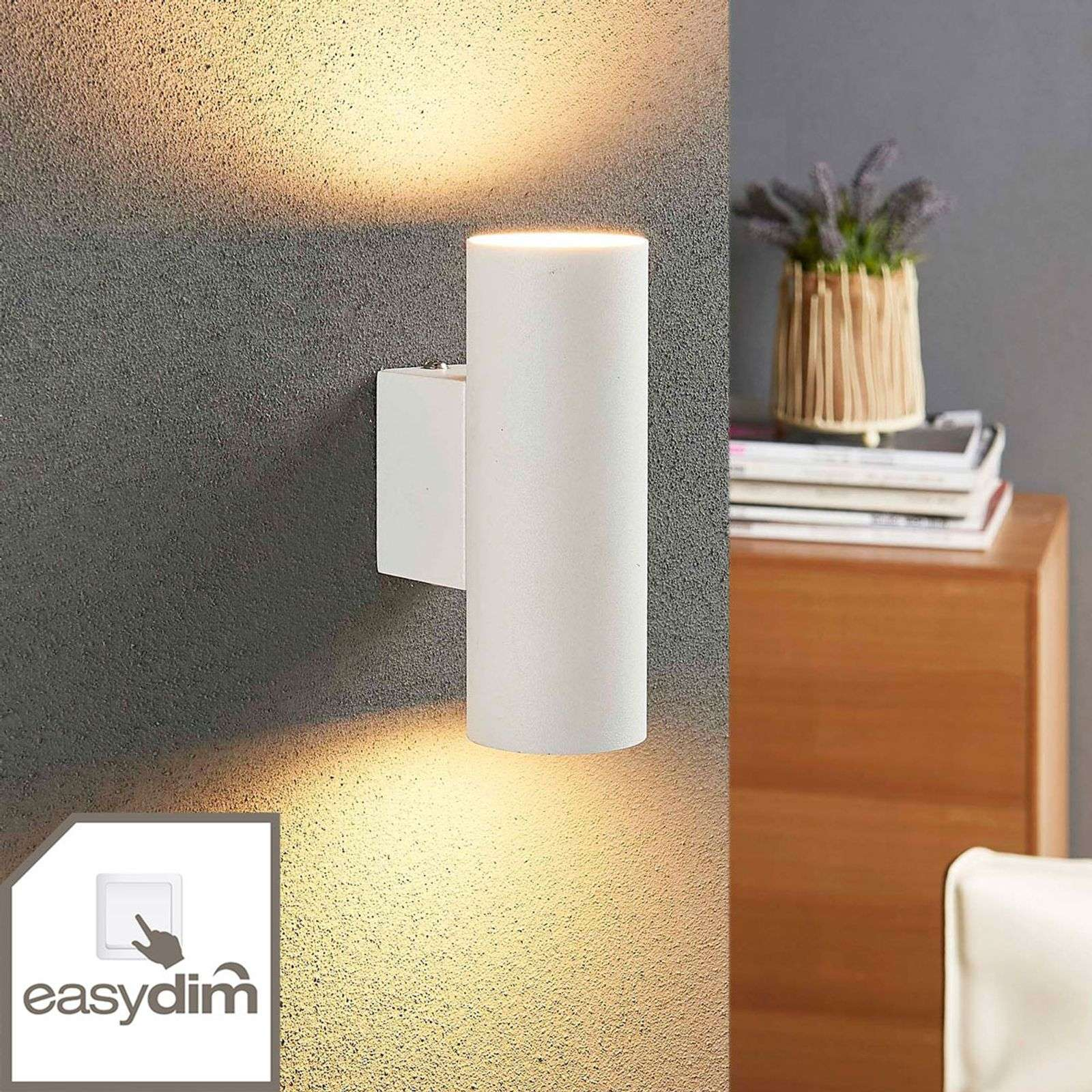 Applique LED cylindrique Marly, fonction Easydim