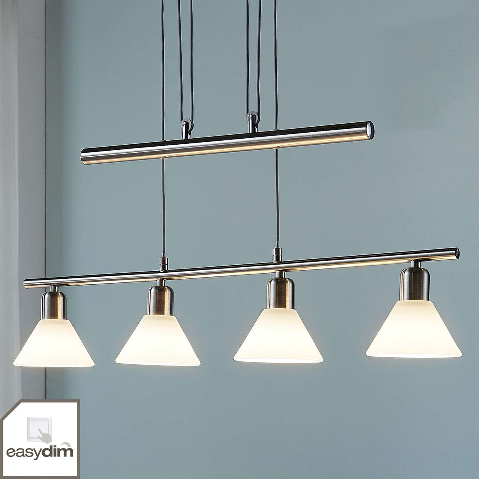 Suspension LED Eleasa Easydim couleur nickel