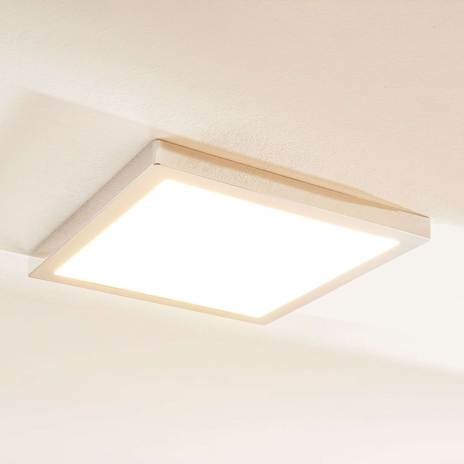 Plafonnier LED Solvie chromé, dimmable