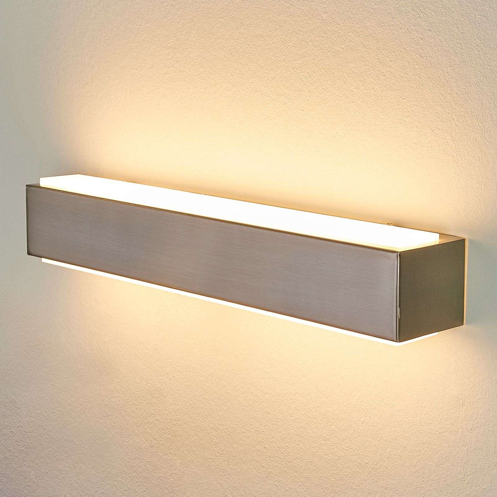 Applique murale LED couleur nickel Quentis, 40 cm