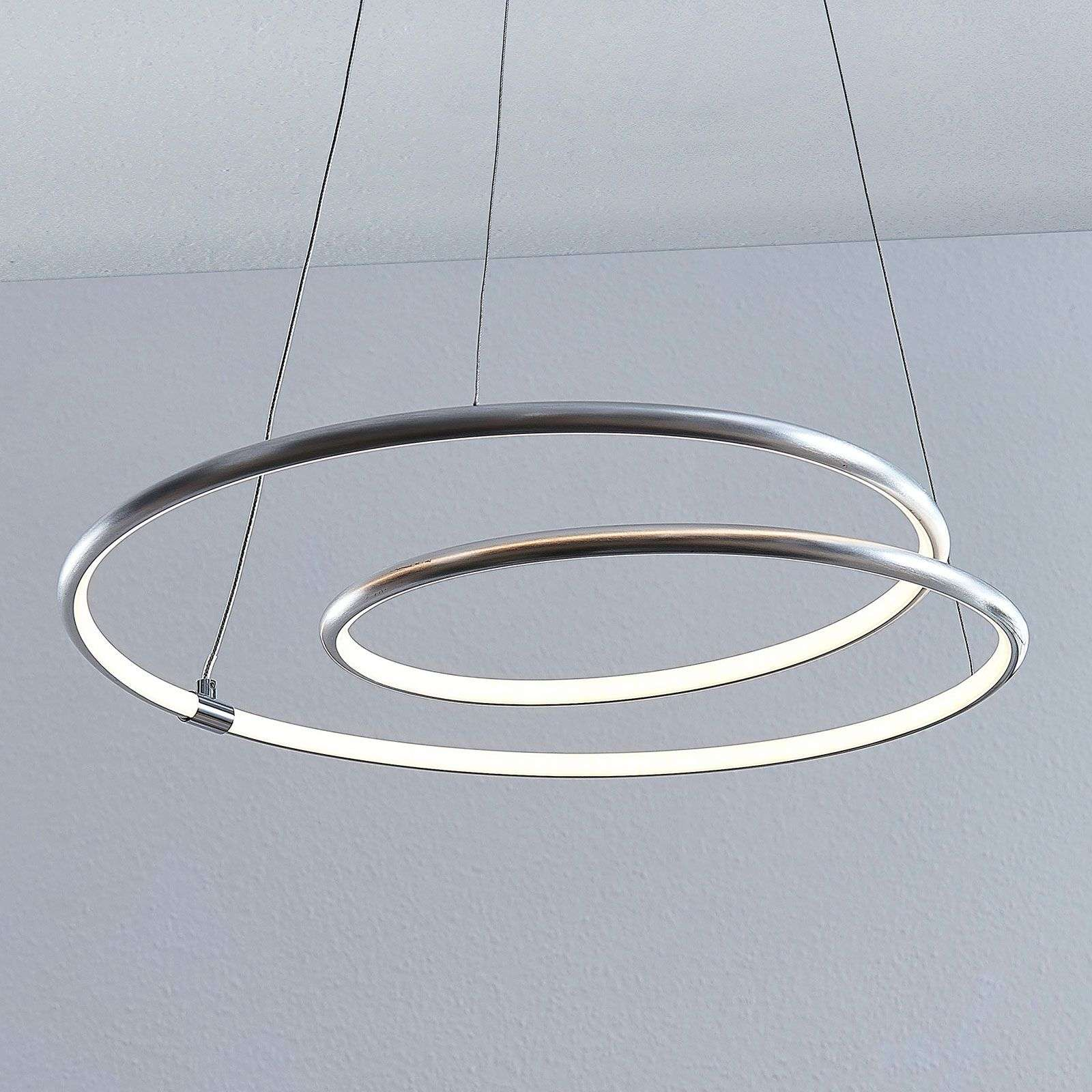 Lindby Lucy suspension LED, 45 cm, aluminium