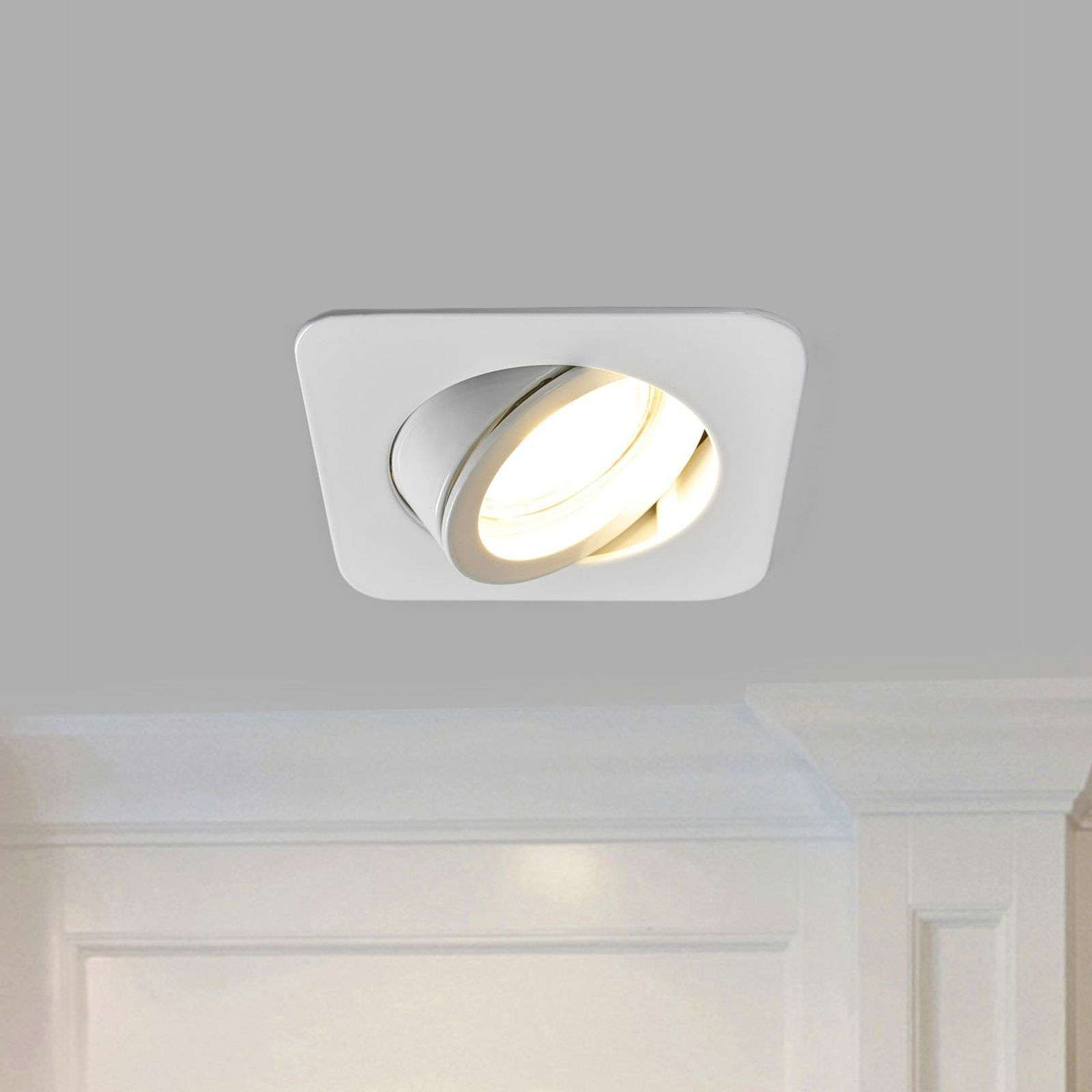 Spot LED encastrable Charna blanc, GU10