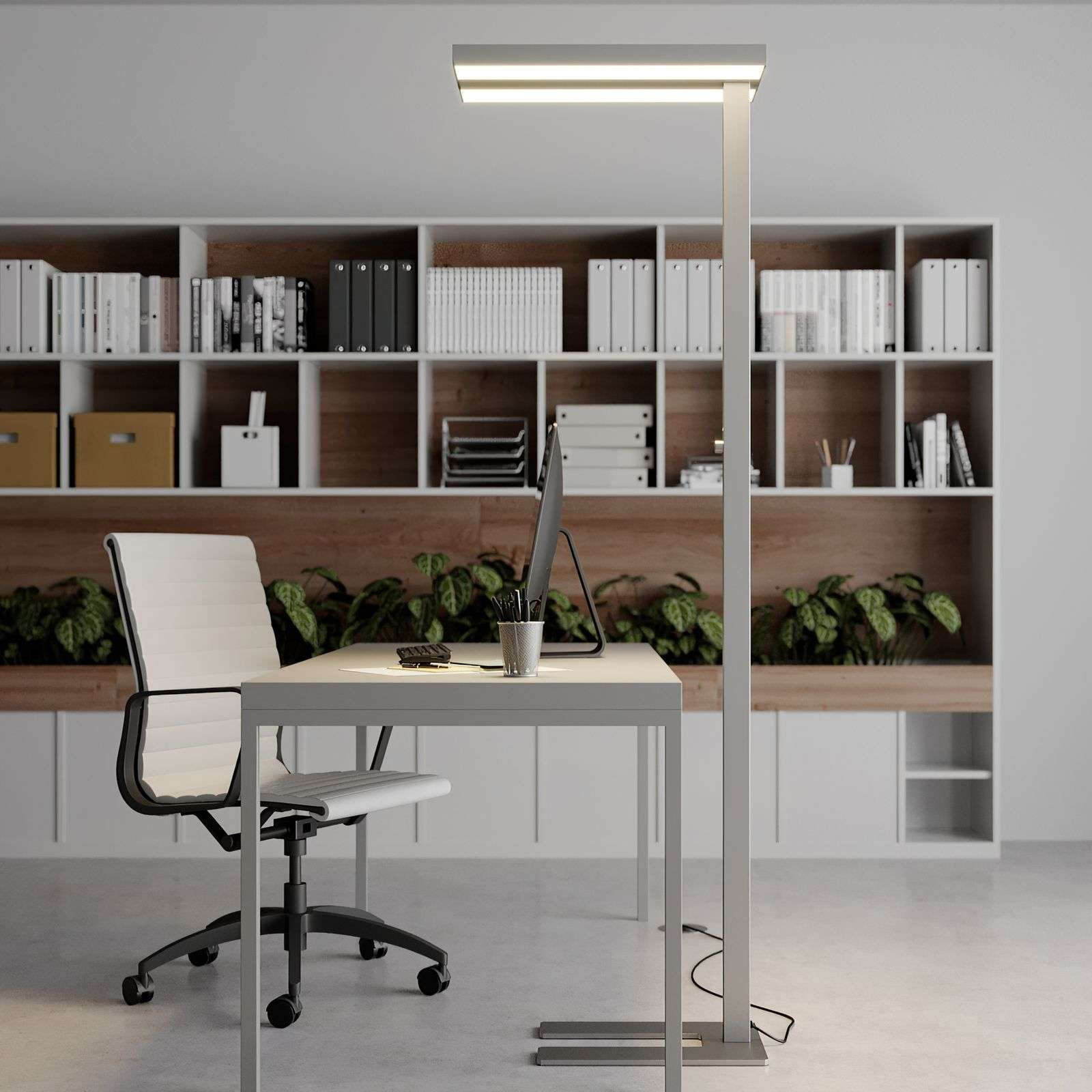 Lampadaire LED bureau Logan, dimmable
