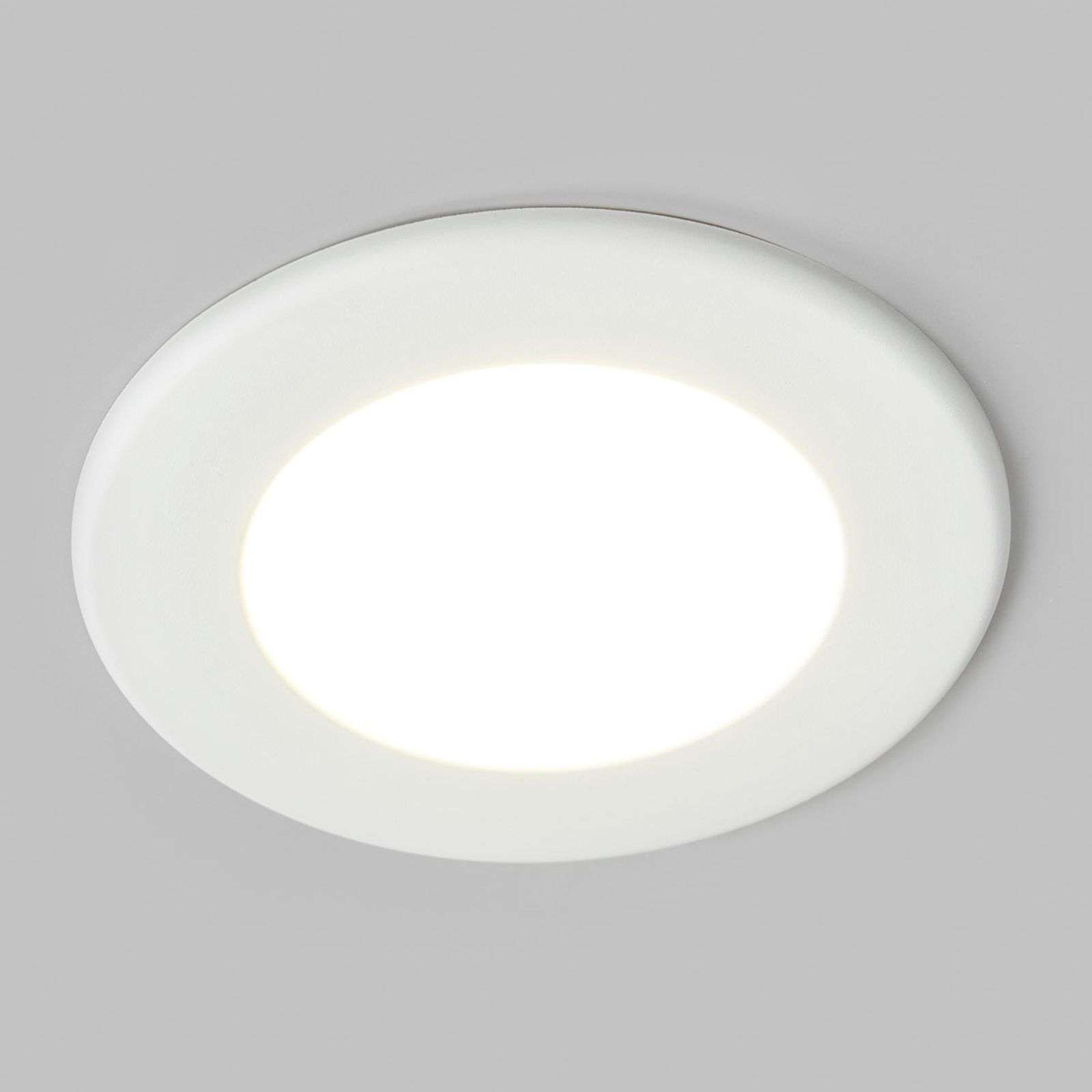 Spot encastrable LED blanc Joki, IP44
