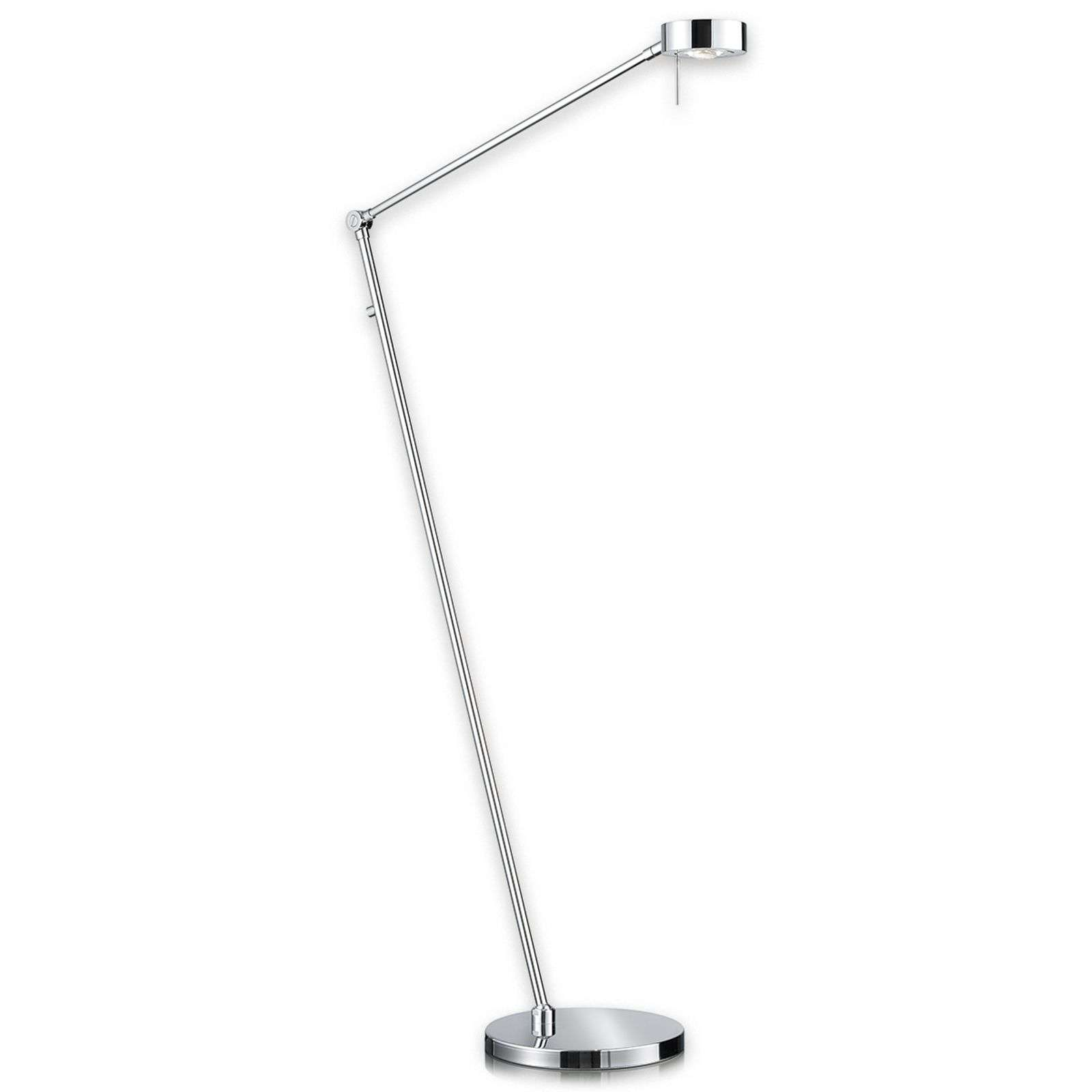 Lampadaire LED Elegance filiforme aspect chromé