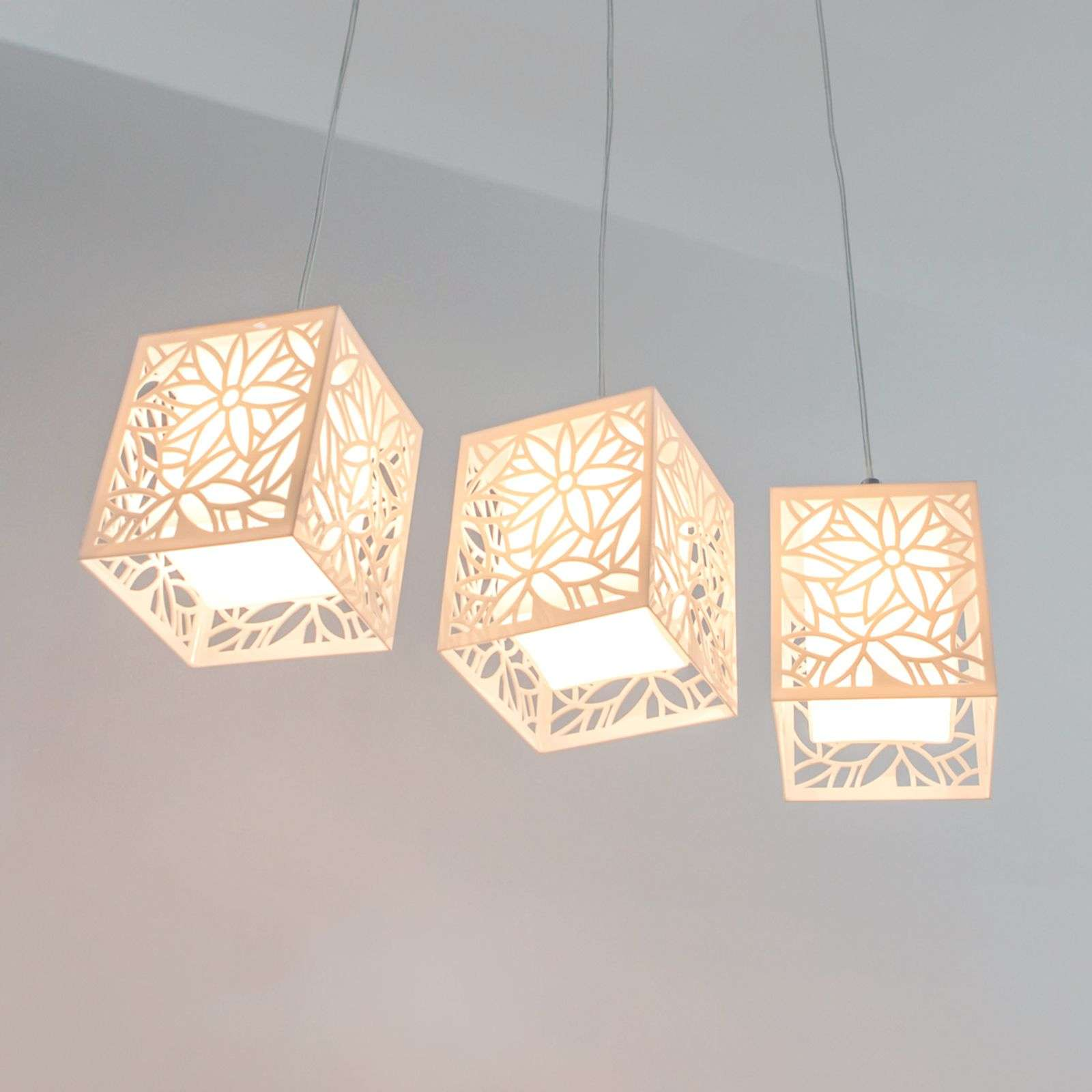 Remarquable suspension Anika, 3lampes