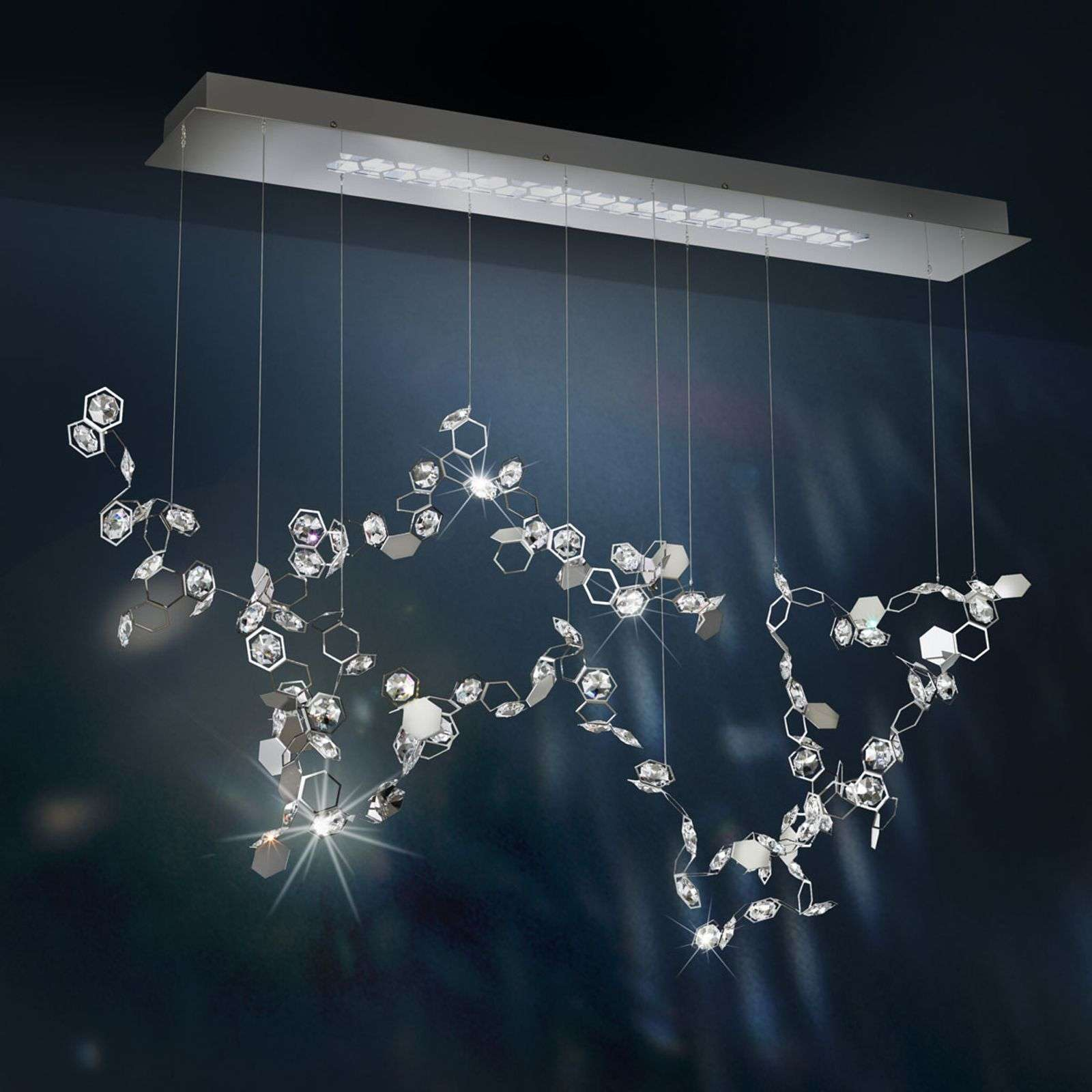 Crystalon - suspension LED avec Swarovski 117cm