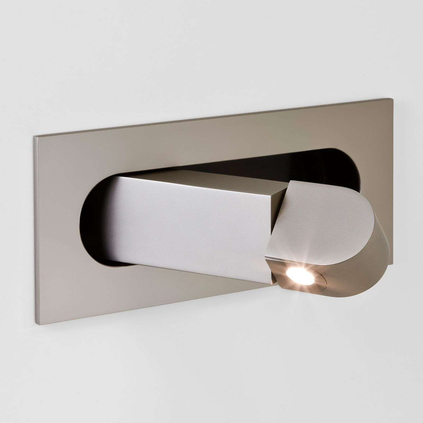 Applique LED Digit comme liseuse, nickel
