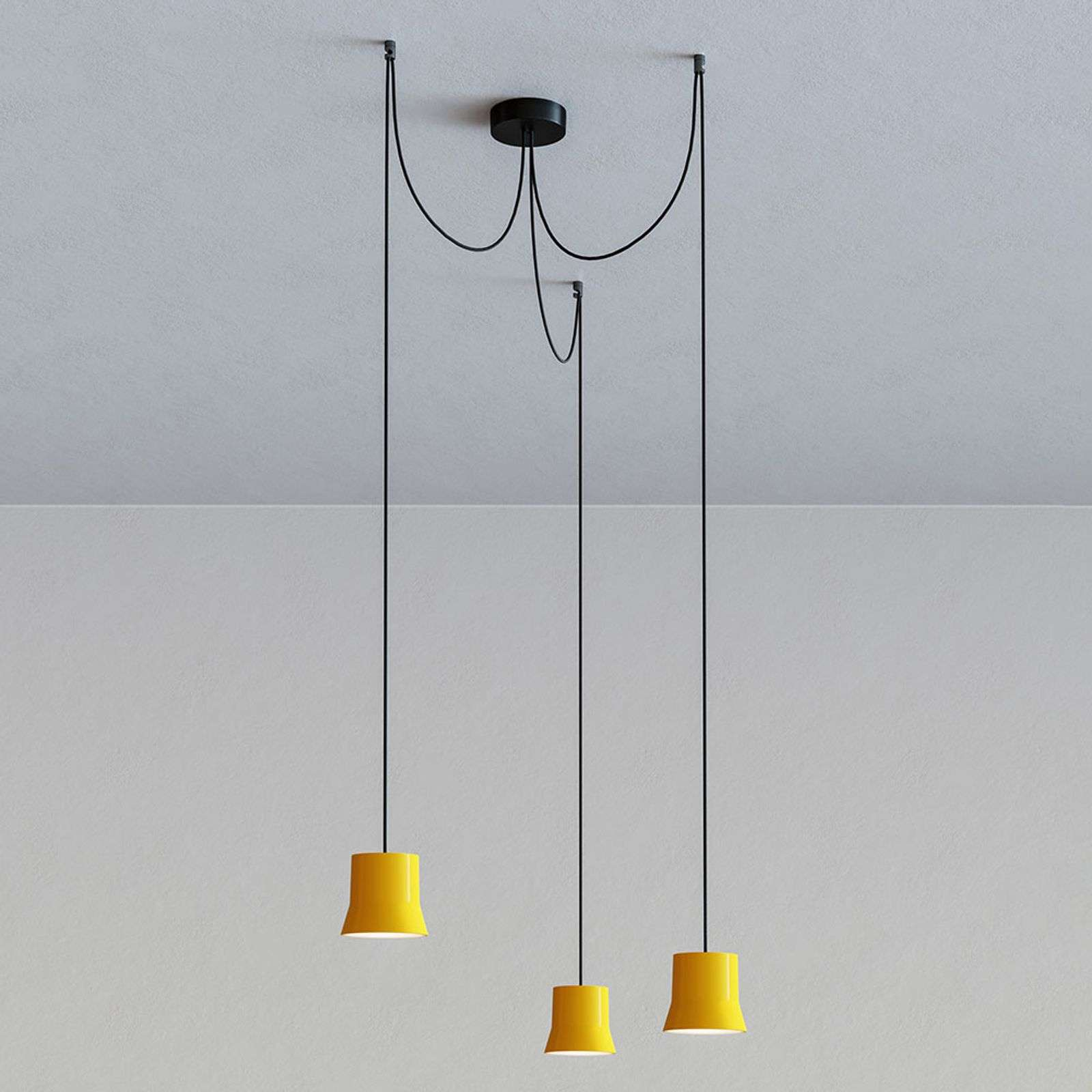 Artemide GIO.light Cluster suspension, jaune