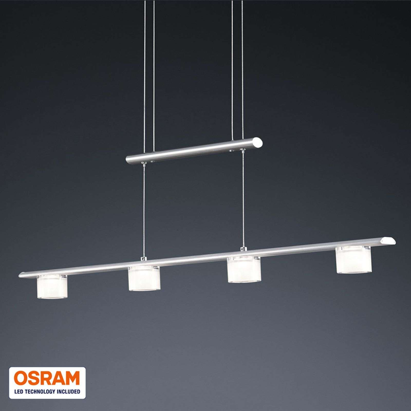 Suspension LED Gaye 4 lampes hauteur rég. 90 cm