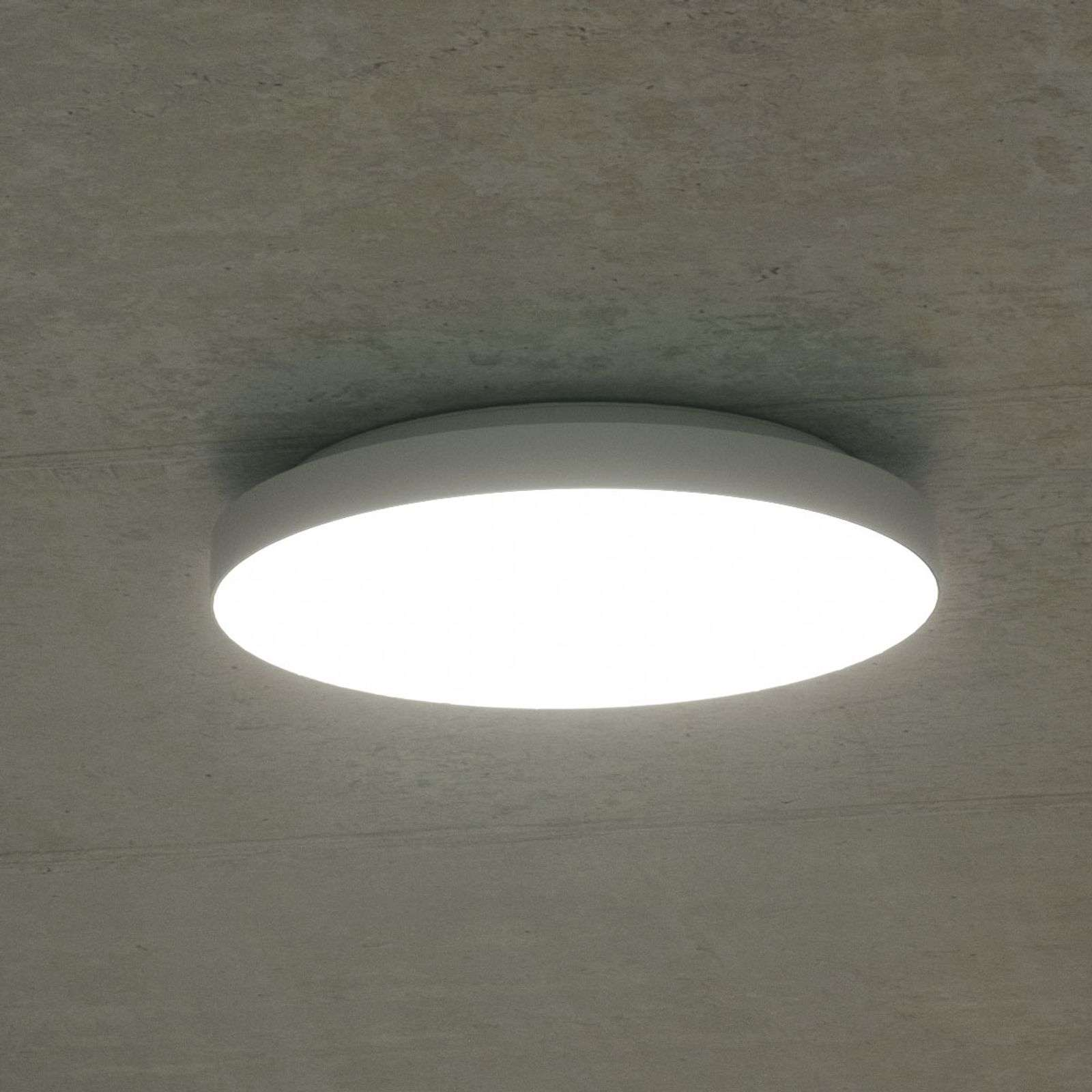 Plafonnier LED Rob, IP44 blanc neutre