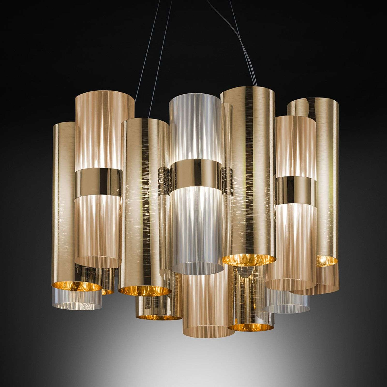 Suspension de designer LED glamour La Lollo, doré