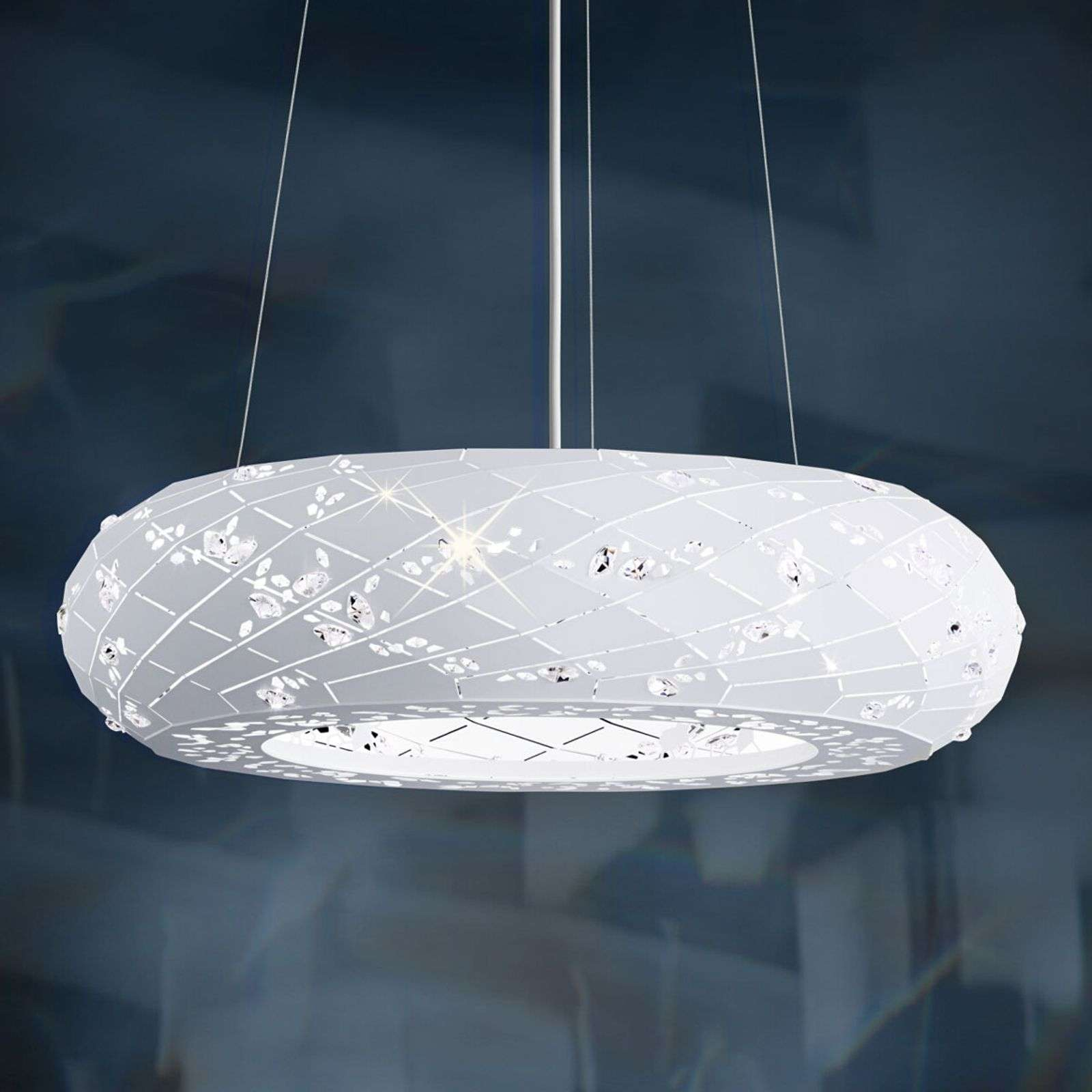 Suspension scintillante Apta en blanc, 61cm