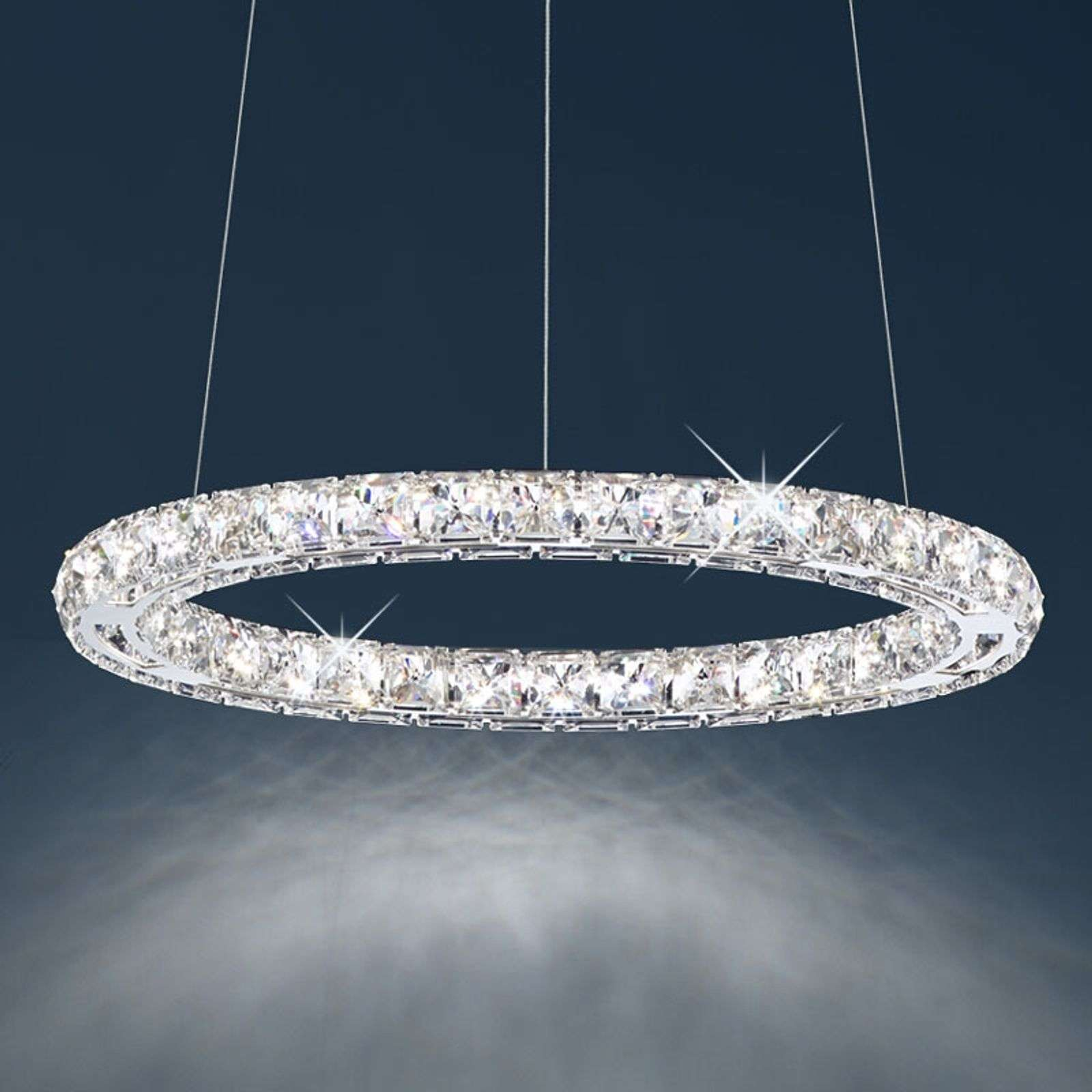 Suspension LED Circle avec pierres Swarovski, 46cm