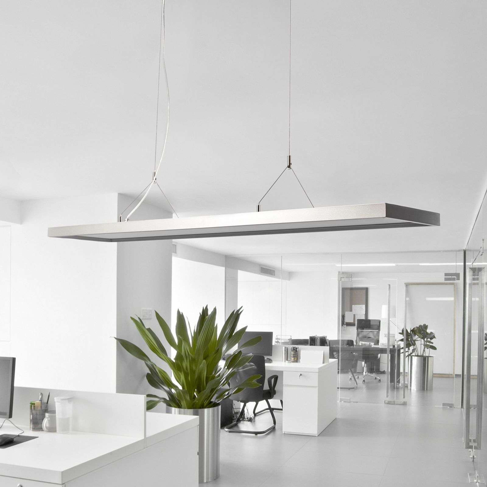 Suspension LED de bureau Dorean, intens. variable