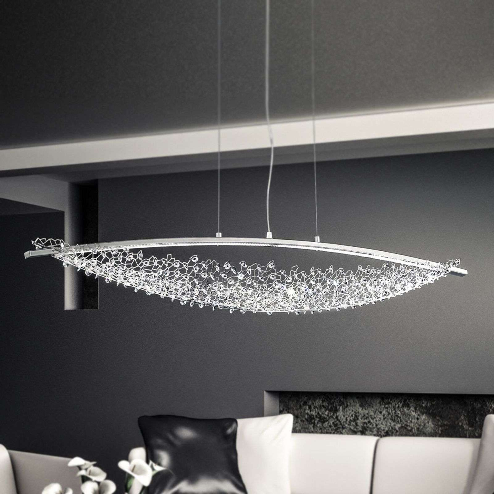 132 cm - suspension LED Amaca avec Swarovski