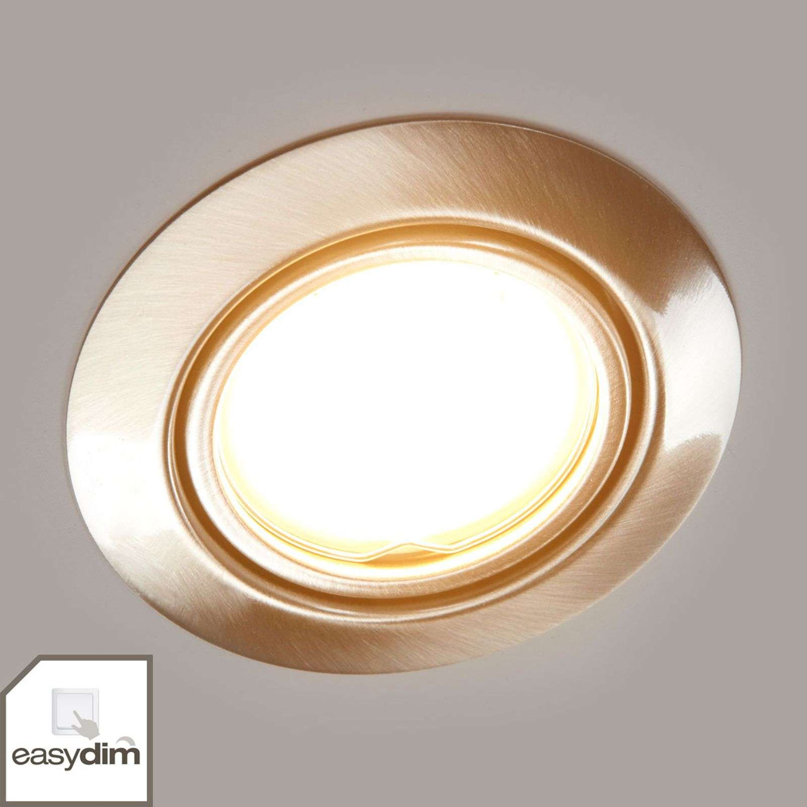 Spot encastrable Easydim Juna, couleur nicke, LED